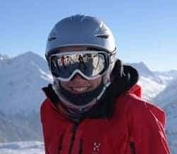 Wearing Ski Goggles