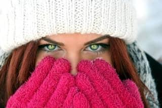 Pretty Girl Staying Warm