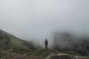 Hiking Mountains In Fog