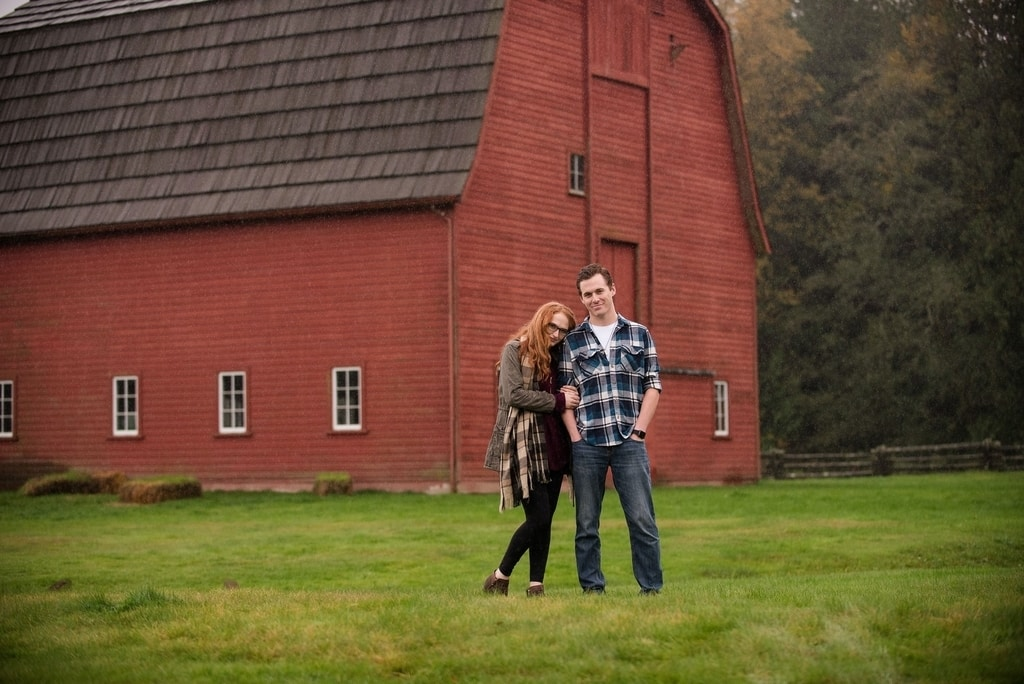 Couple In Front Of A Barn