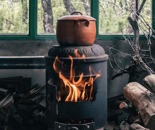 Old Fashioned Wood Stove